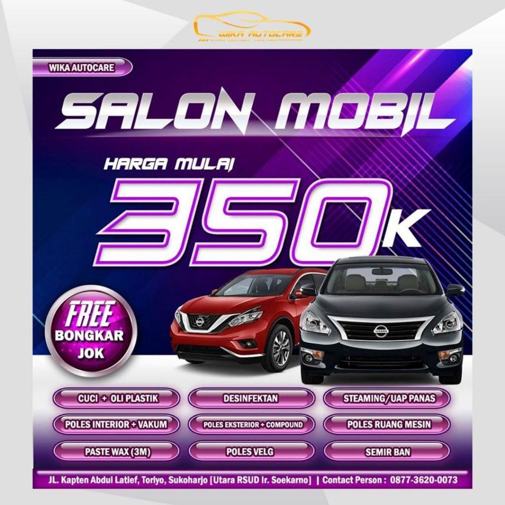 Harga Salon Mobil Wilayah Solo